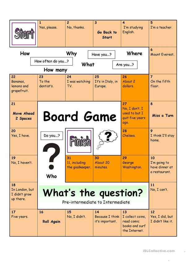 Board Game - What´s the Question (Medium)