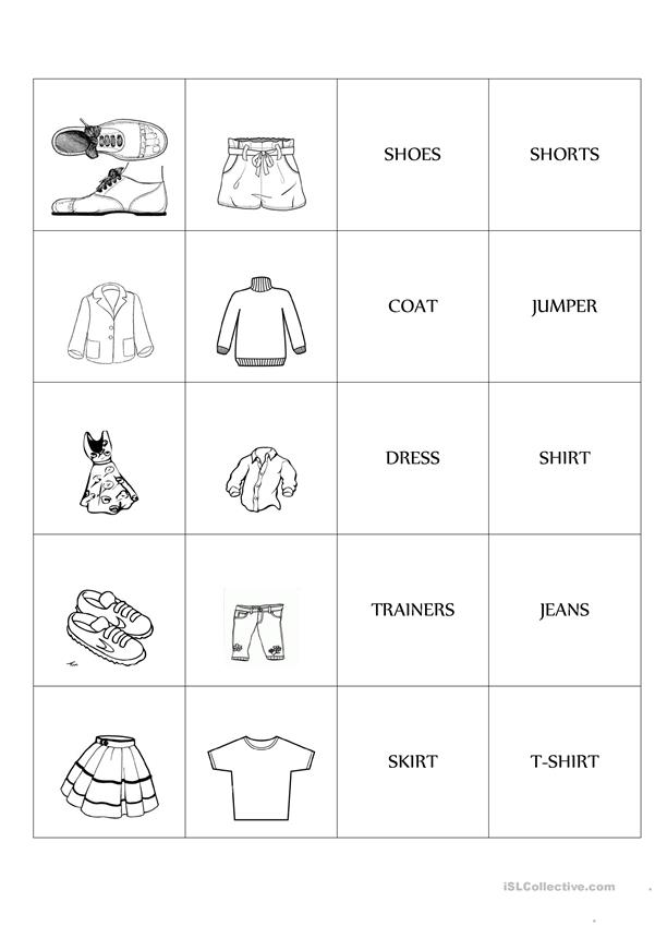 Clothes  Memo test Game