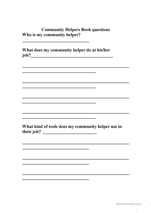 Community Helpers Questions