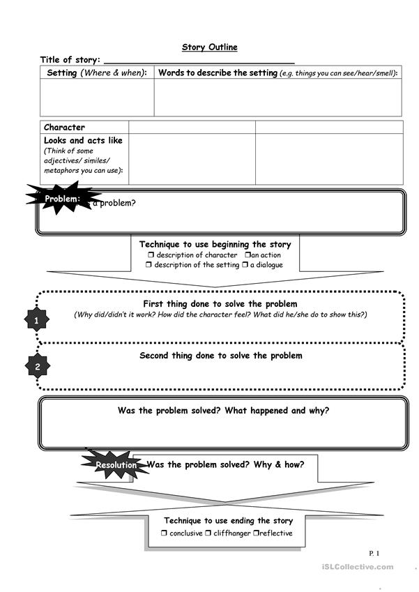 Graphic organiser for story writing