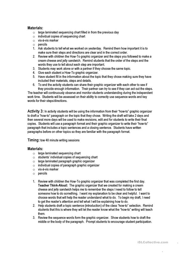 How-to book lesson plan 3rd grade