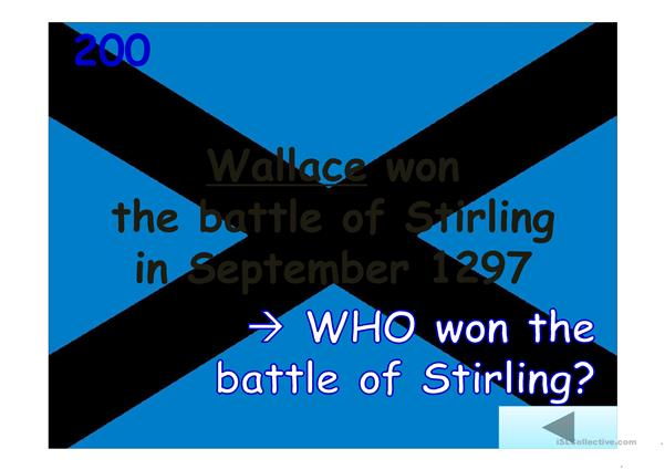 Jeopardy: William Wallace