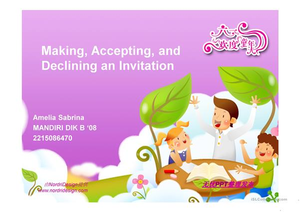 Making an invitation