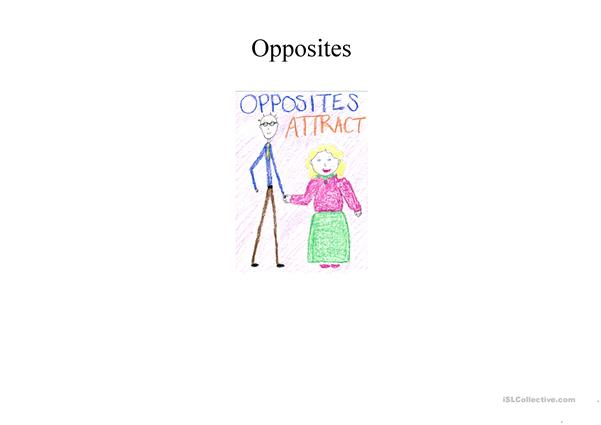 Opposites chart illustrated (adjectives)