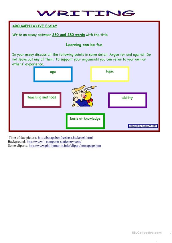 Role play and writing - LEARNING *** advanced