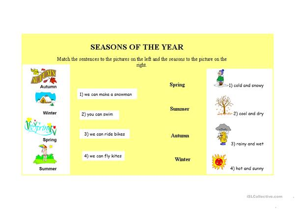 Seasons, Months, Days