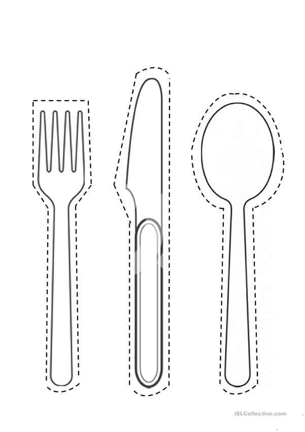 spoon fork knife cut-out