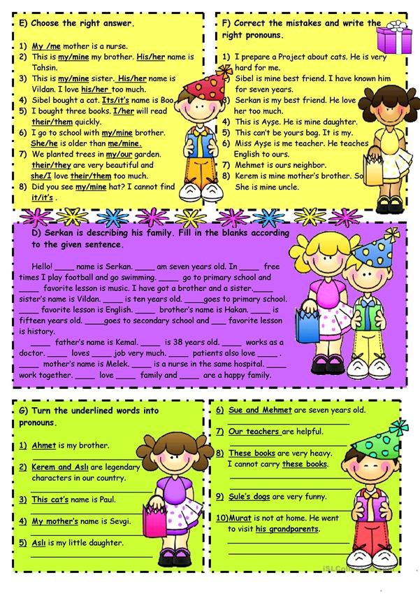Subject&object pronouns-Possessive adjectives -2