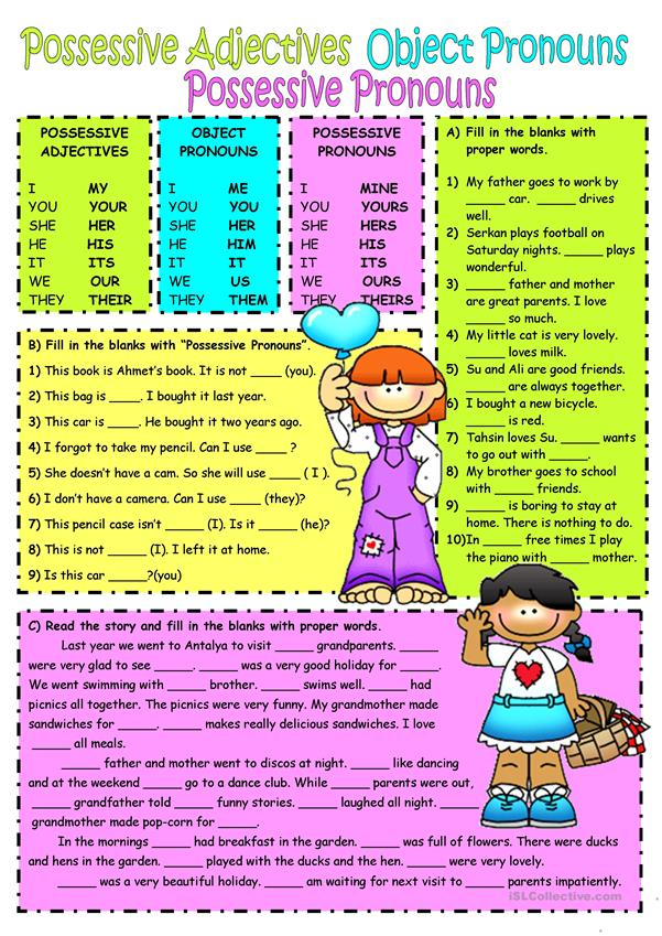 Subject&object pronouns-Possessive adjectives