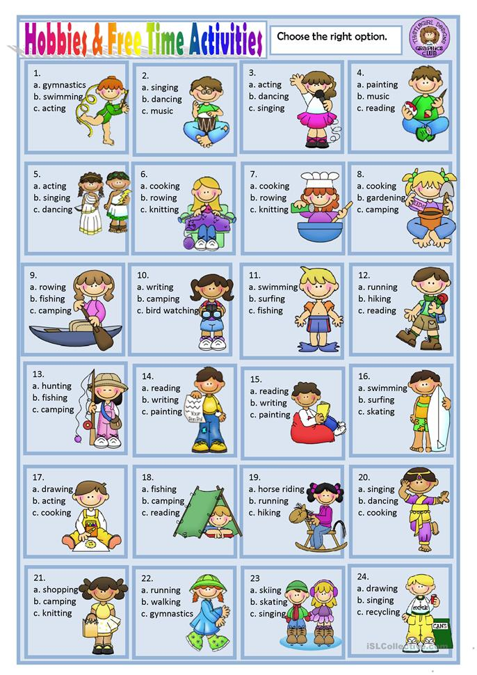 Worksheets Free Student Worksheets 222 free esl time leisure activities worksheets hobbies and activities