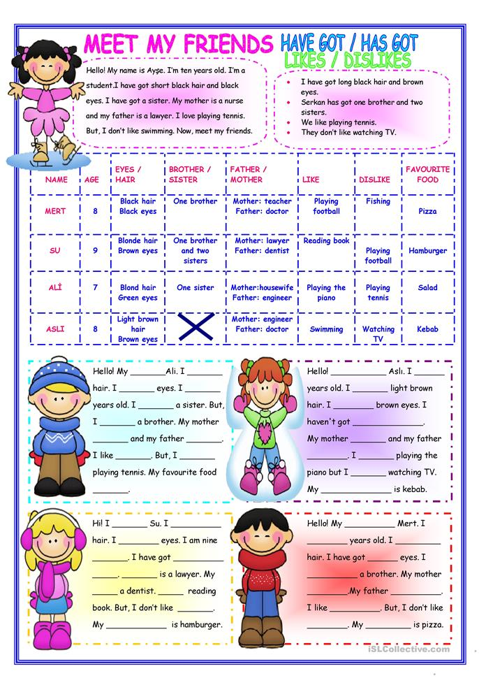 41 Free Esl Friendship Worksheets