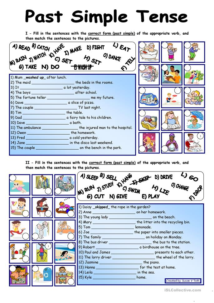 Past Simple Tense*** fully editable *** with key - ESL worksheets