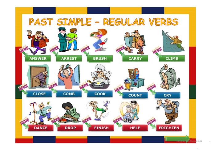 Simple Past Regular Verbs Made Easy - ESL worksheets