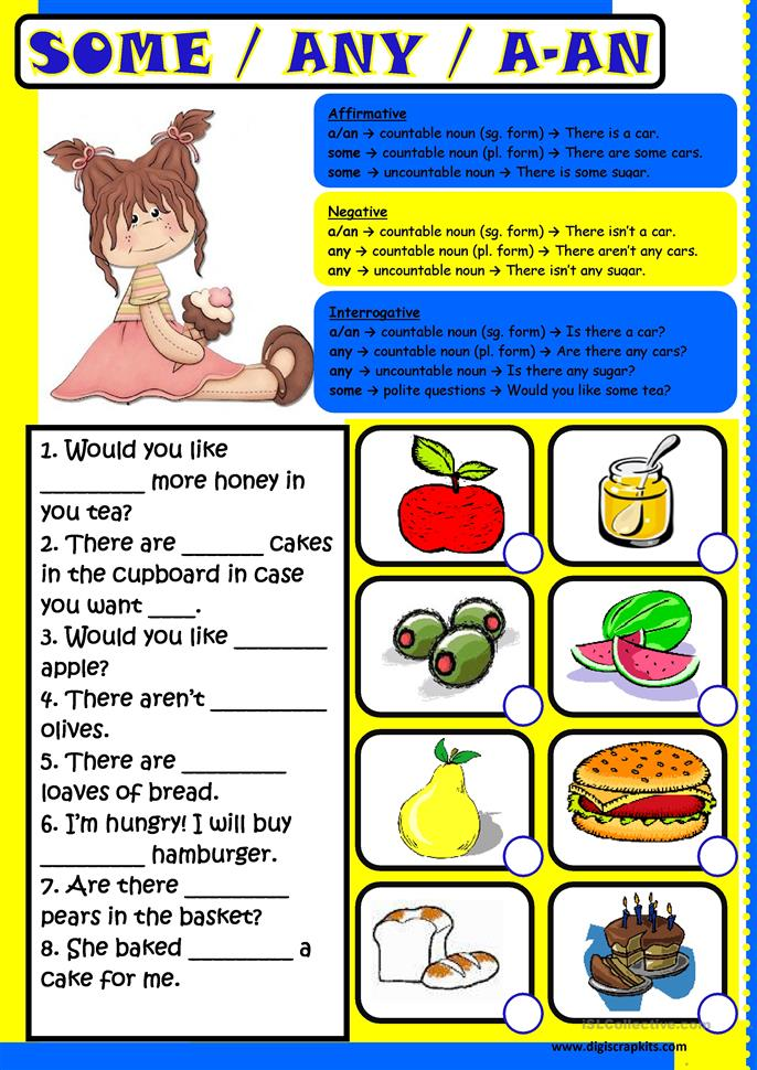 Some Any A-An worksheet - Free ESL printable worksheets made by ...