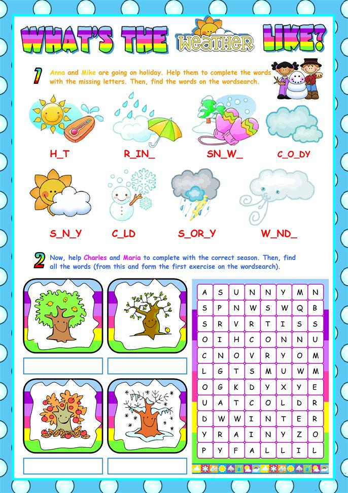 The Weather (for begin... - ESL worksheets