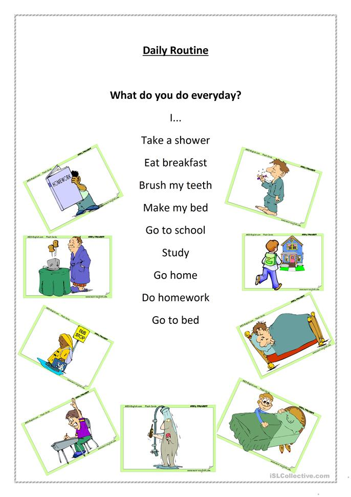 What Do You Do Everyday? Worksheet