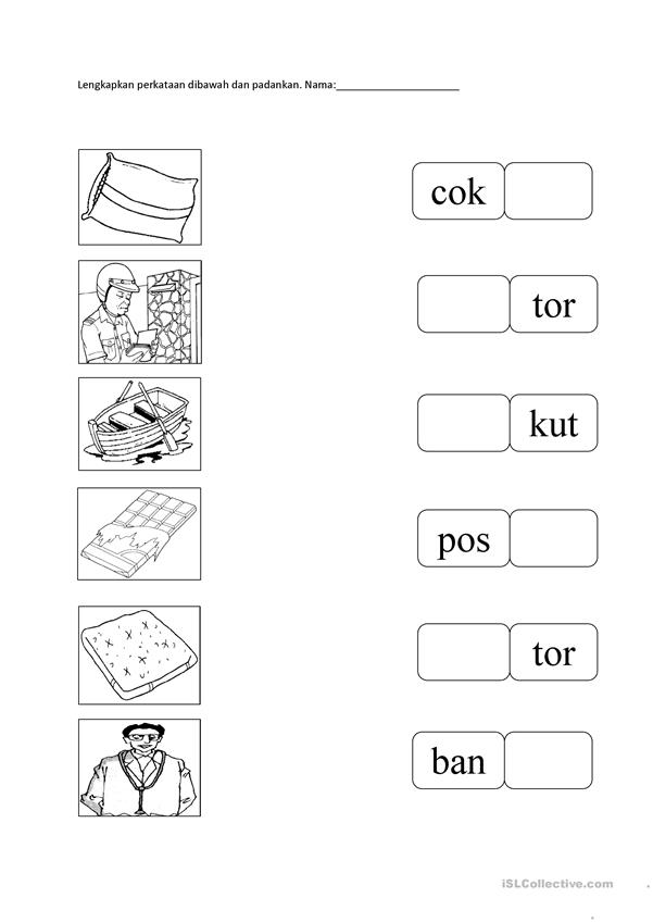 Bahasa Malaysia English Esl Worksheets For Distance Learning And Physical Classrooms