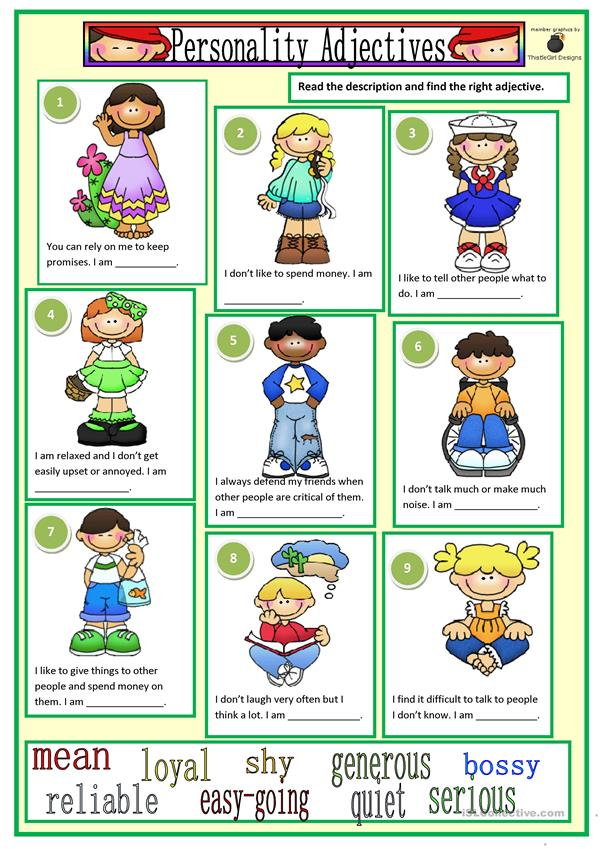 personality-adjectives_10067_1 Teaching English Appearance Worksheets on word search, french physical, people personality, positive physical, versus personality, describe physical,