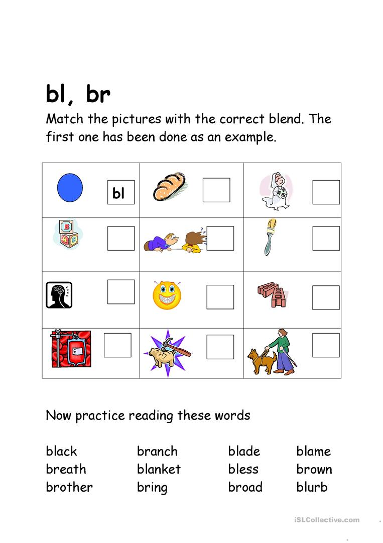 blends bl br worksheet free esl printable worksheets made by teachers. Black Bedroom Furniture Sets. Home Design Ideas