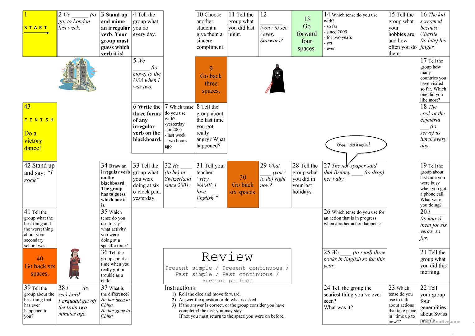 37 Free Esl Present And Past Tenses Worksheets