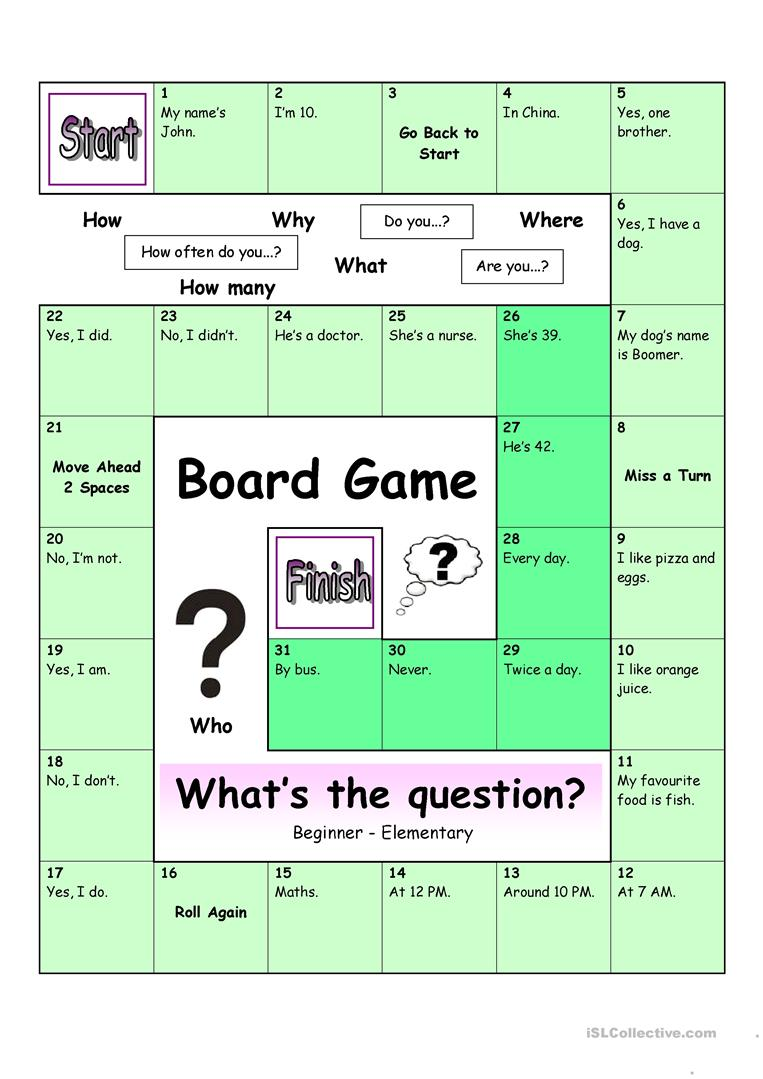 board game what s the question easy worksheet free esl printable worksheets made by teachers. Black Bedroom Furniture Sets. Home Design Ideas