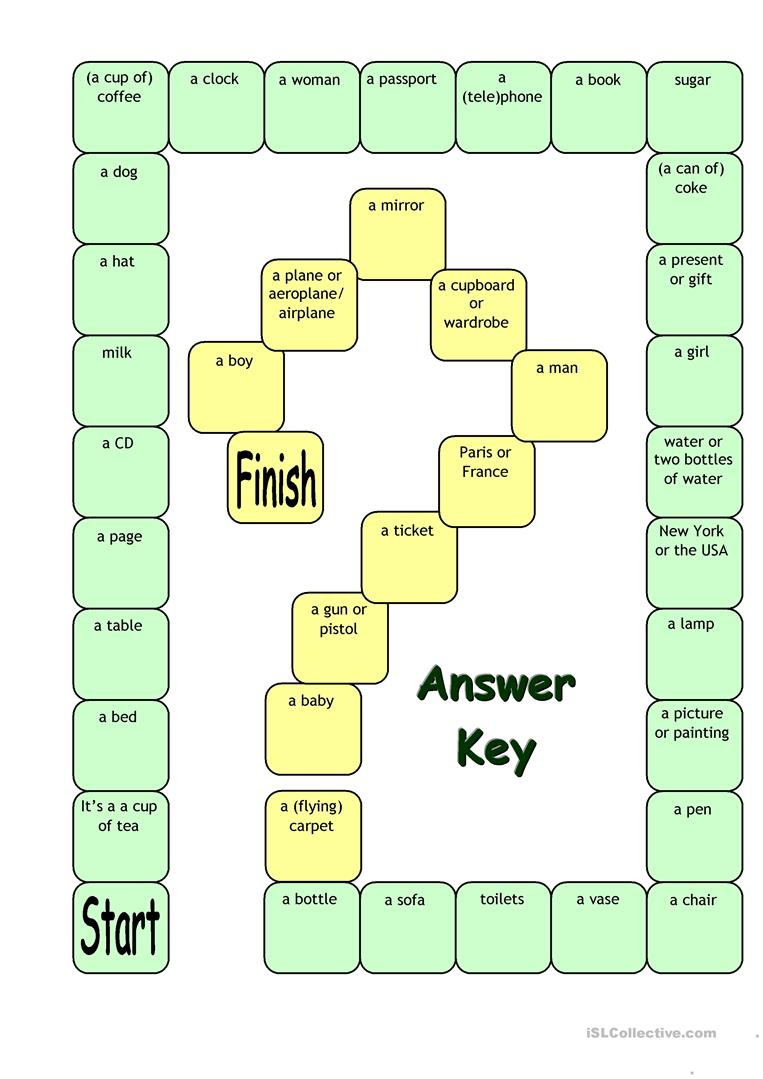 Board Game What S This Its A Worksheet Free Esl