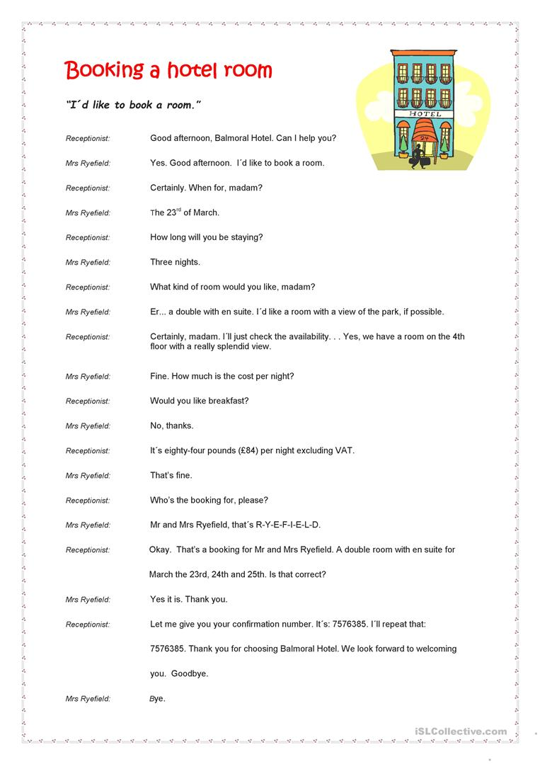 Workbooks punctuation comma worksheets : 20 FREE ESL booking worksheets