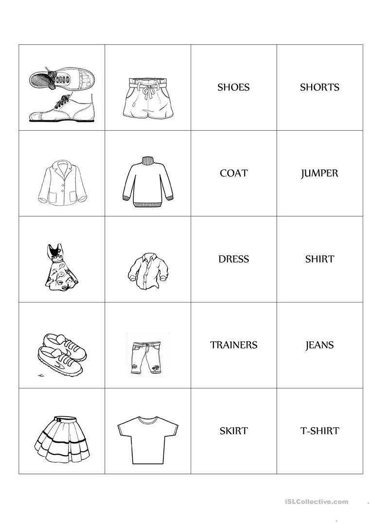 Clothes Memo Test Game Worksheet Free Esl Printable Worksheets Made By Teachers