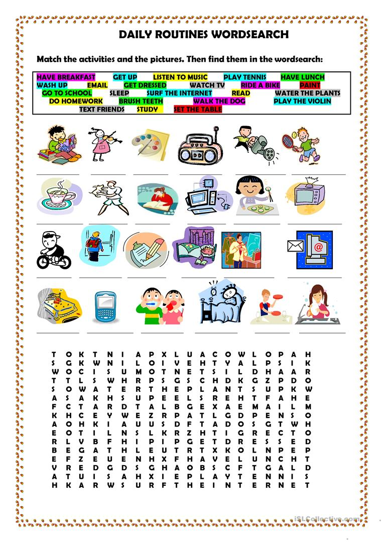 527 FREE ESL word search worksheets
