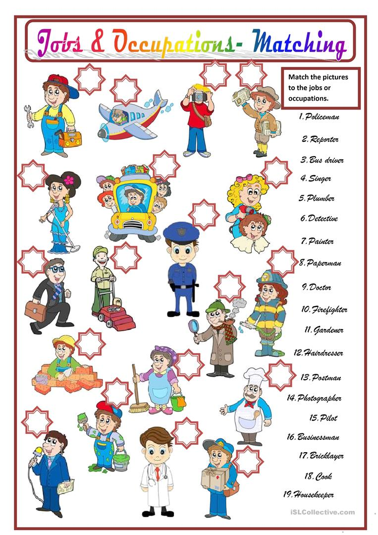 JOBS & OCCUPATIONS - English ESL Worksheets