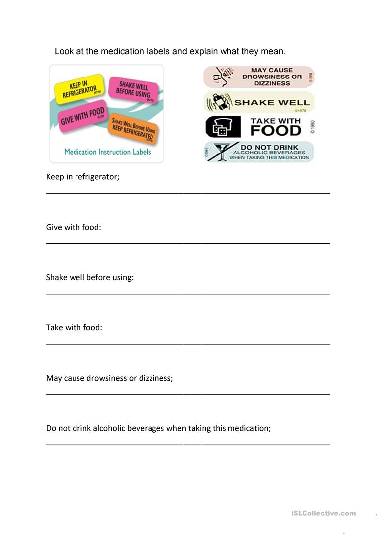 Worksheets Reading Labels Worksheet medicine labels worksheet free esl printable worksheets made by full screen
