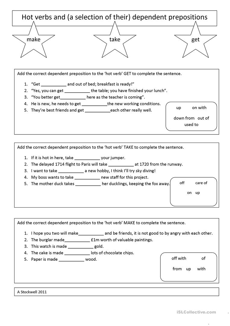 worksheet How Chocolate Is Made Worksheet take make and get dependent preposition worksheet full screen