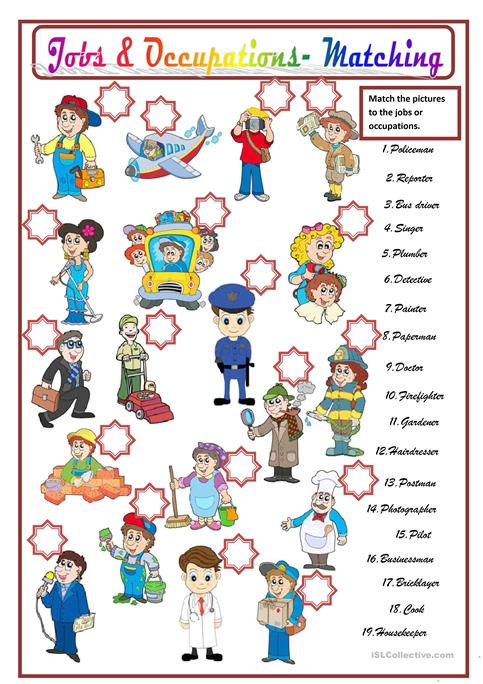 English teaching worksheets: Jobs and careers