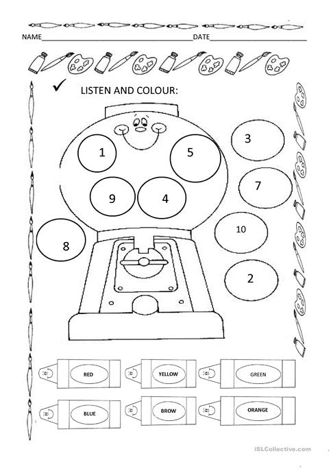 Listen and colour worksheet - Free ESL printable worksheets made by ...