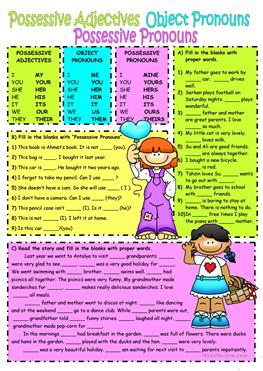 Subject\u0026object pronouns-Possessive adjectives