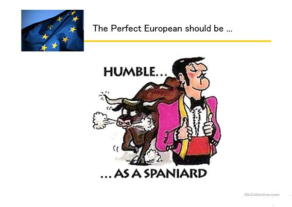 European National Stereotypes with cartoons
