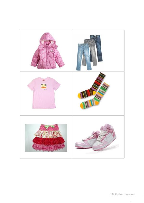 Girls' Clothes Memory Cards Game for Beginners