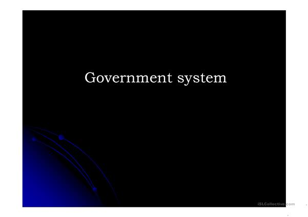 government system in the USA and UK