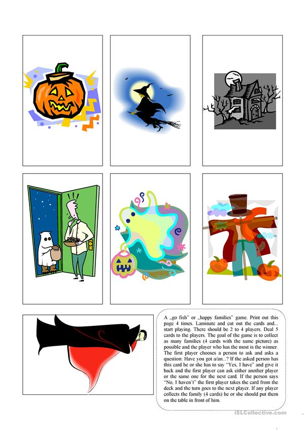 Halloween go fish game - second part
