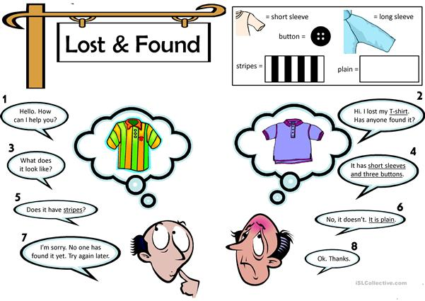 Lost and Found Dialogue
