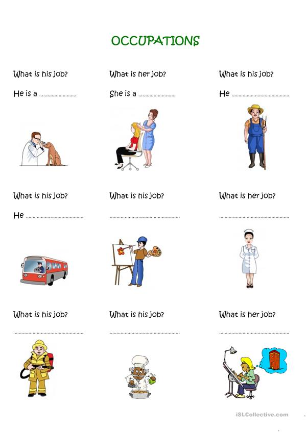 occupations exercise