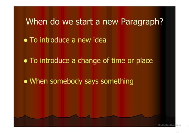 paragraphs and how to use them