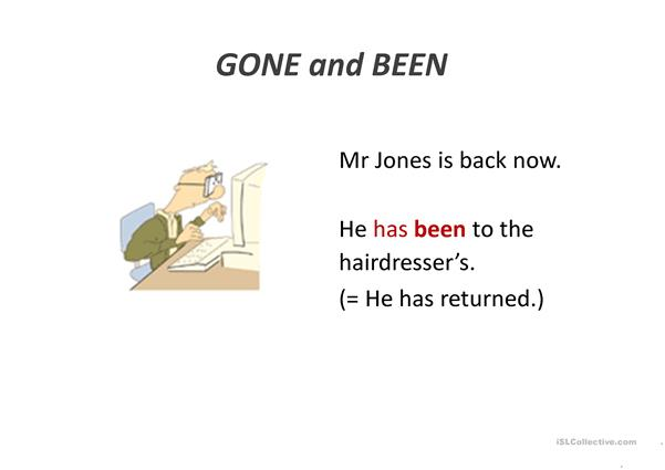 present perfect gone vs been
