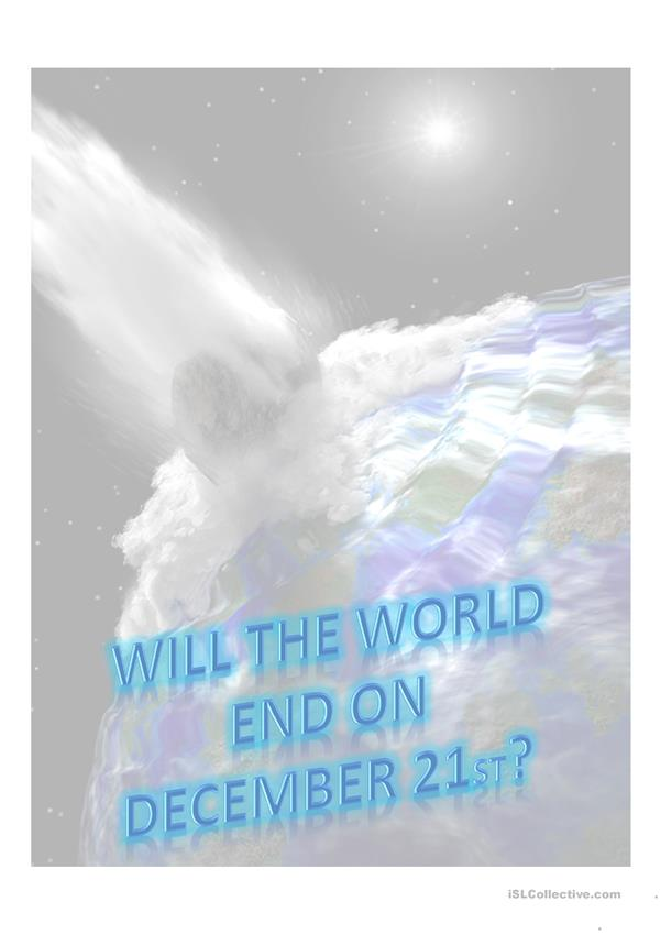 Will the World End on December 21st?