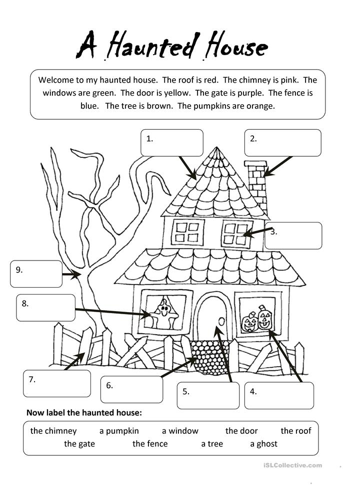 A Haunted House - ESL worksheets