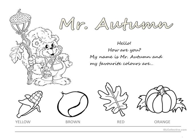 Printables Autumn Worksheets 53 free esl autumn worksheets colours