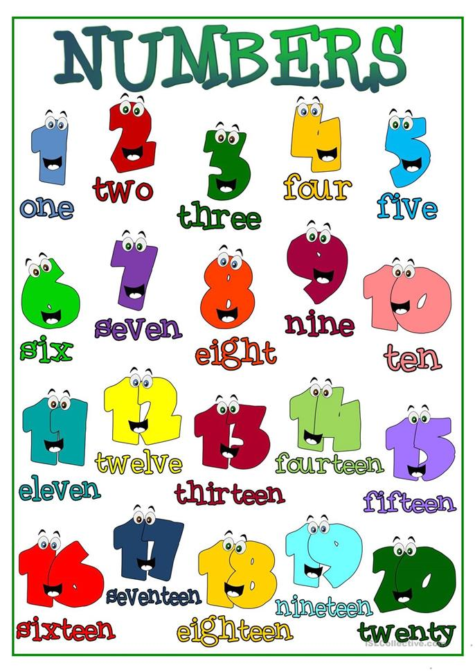 Cardinal numbers - ESL worksheets