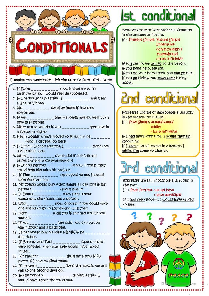 Conditionals - revision - ESL worksheets