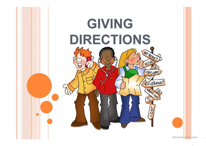 DIRECTIONS: ASKING FOR AND GIVING - ESL worksheets