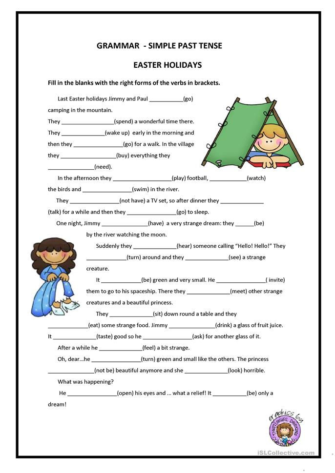 PAST SIMPLE - ESL worksheets